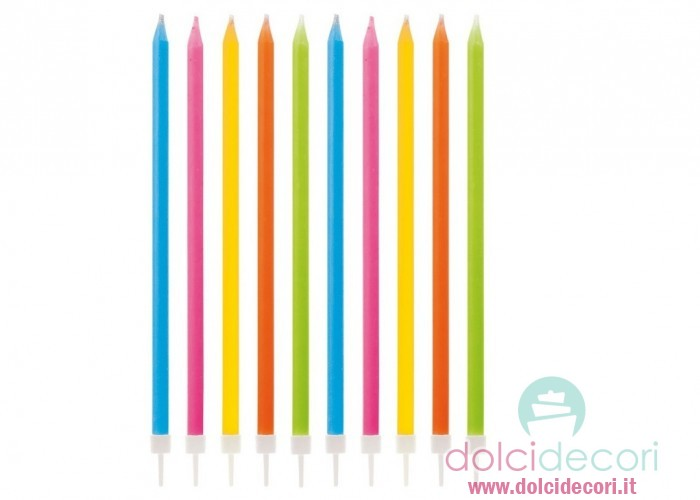 Candele per compleanno matita colorate for Candele colorate