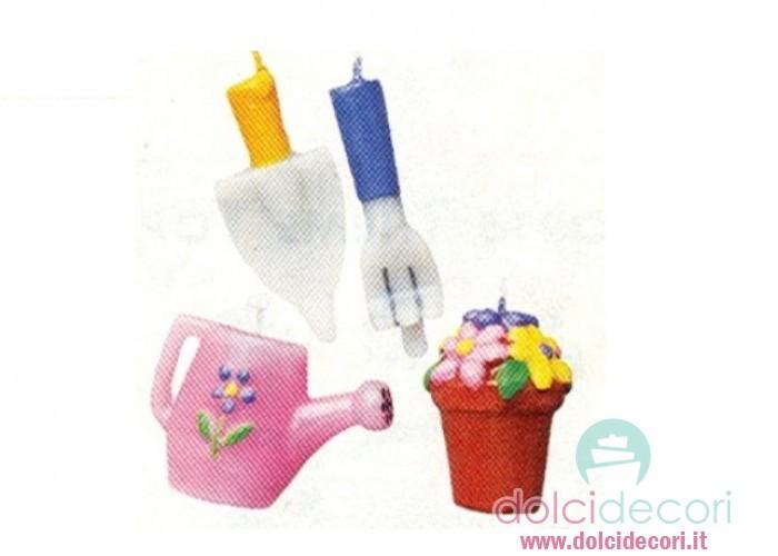 Candele per compleanno attrezzi da giardino - Attrezzi da giardino per bambini ...