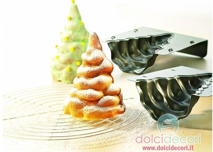 Teglia per dolci albero di natale 3d - Decorazioni natalizie per dolci ...