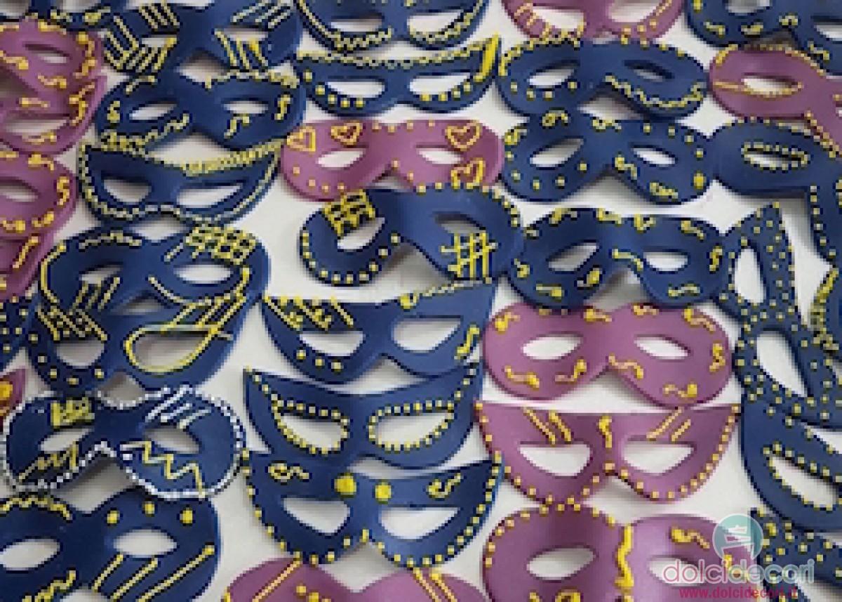 Maschere di carnevale per decorare torte e dolci - Decorazioni per torte di carnevale ...