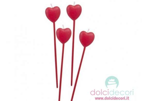 Candeline cuore red