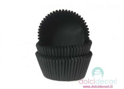 Pirottini cupcake/muffin nero