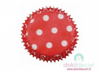 House of Mary baking cups rosso a pois