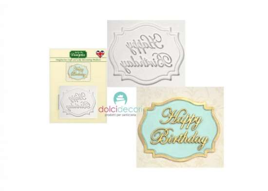 Stampo silicone Happy Birthday